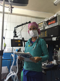 Nurse Anesthetist Lisa Harrison Preparing for a Day of Surgery